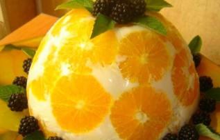 апельсины в йогурте