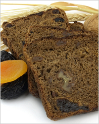 Black bread with fruit