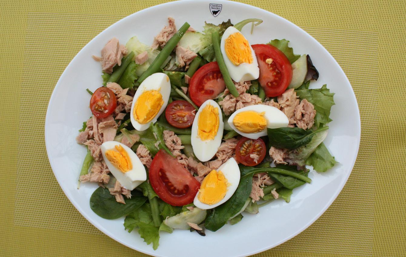рецепт салата из фасоли и тунца