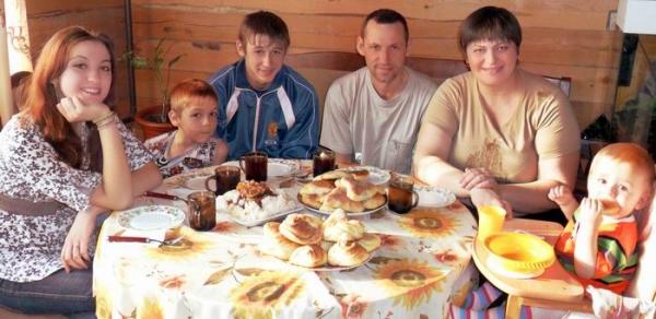 домашнее семейное фото русское
