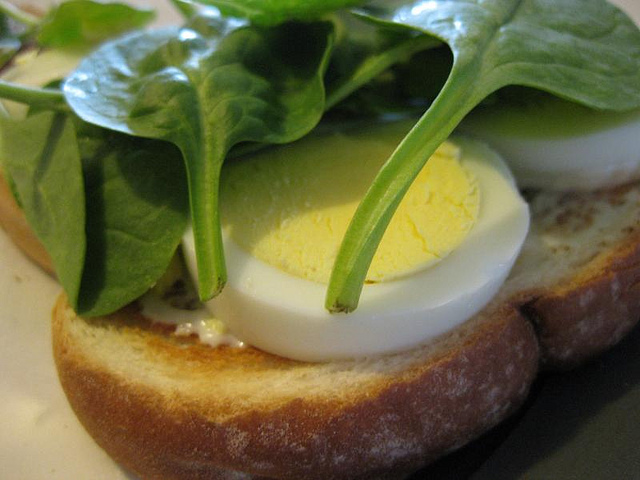 hard-boiled-egg-and-spinach-sandwich